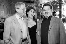 With the attorney Genrikh Padva and pianist Olga Domnina, Moscow 2012