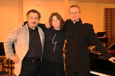 with the chansonnette Lena Frolova & the music director Artem Markin