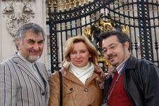 with cellist David Grigorian & violinist  Natalia Raithel in London 2007